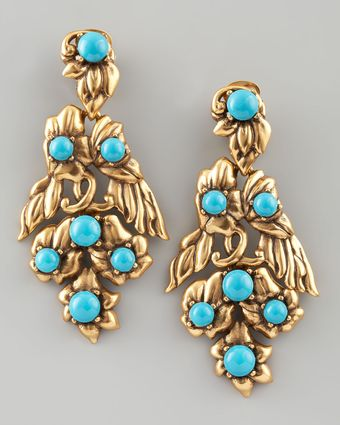 Oscar de la Renta Multiflower Drop Earrings - Lyst