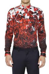 Paul Smith Cotton Poplin Printed Shirt - Lyst