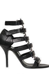 Pierre Hardy Iridescent Watersnake Sandals - Lyst