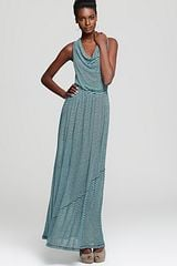Plenty By Tracy Reese Quotation Dress Cowl Neck Stripe Maxi - Lyst