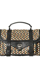 Proenza Schouler Ps1 Medium Woven Leather Satchel - Lyst