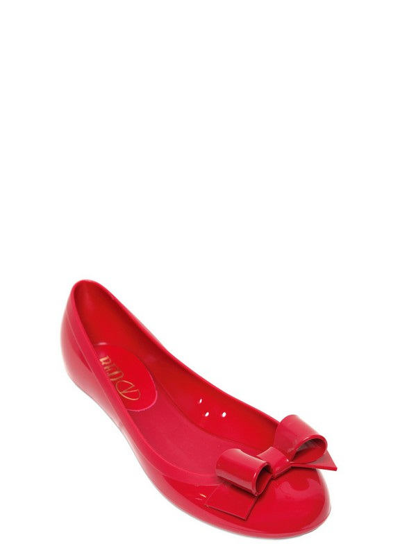 dc18c9d3601b Lyst - RED Valentino Rubber Ballerina Flats in Red