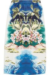 Stella McCartney Hawaiianprint Cottonsateen Midi Skirt