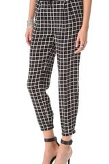 Tibi Windowpane Pleated Pants - Lyst
