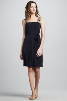 Tory Burch Jacqueline Pleated Bead-strap Dress - Lyst
