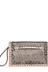 Valentino Medium Rockstud Jewel Embroidered Clutch - Lyst