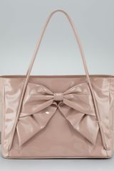 Valentino Betty Lacca Bow Tote Bag  - Lyst