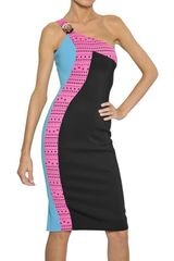 Versace Laser Cut Viscose Cady Dress - Lyst