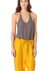 3.1 Phillip Lim Check Racer Back Tank - Lyst