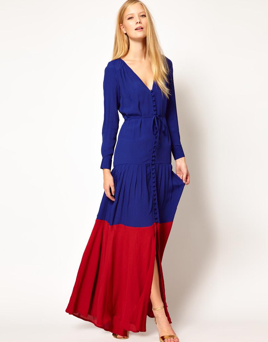 Maxi dress with sleeves images