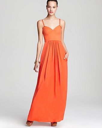 BCBGMAXAZRIA Maxi Dress with Spaghetti Strap - Lyst