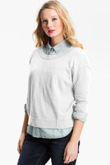 Caslon® Slub Crew-neck Sweater - Lyst