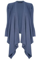 Donna Karan New York Curtained Waterfall Cardigan - Lyst