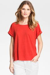 Eileen Fisher Ballet Neck Boxy Top - Lyst