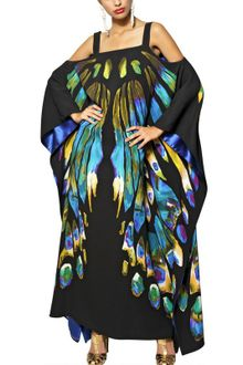 Etro Printed Viscose Cady Long Kaftan Dress - Lyst