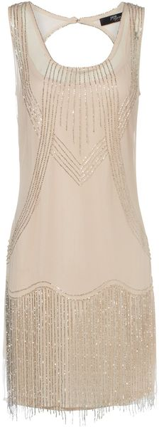 Jane Norman Mesh Flapper Dress - Lyst