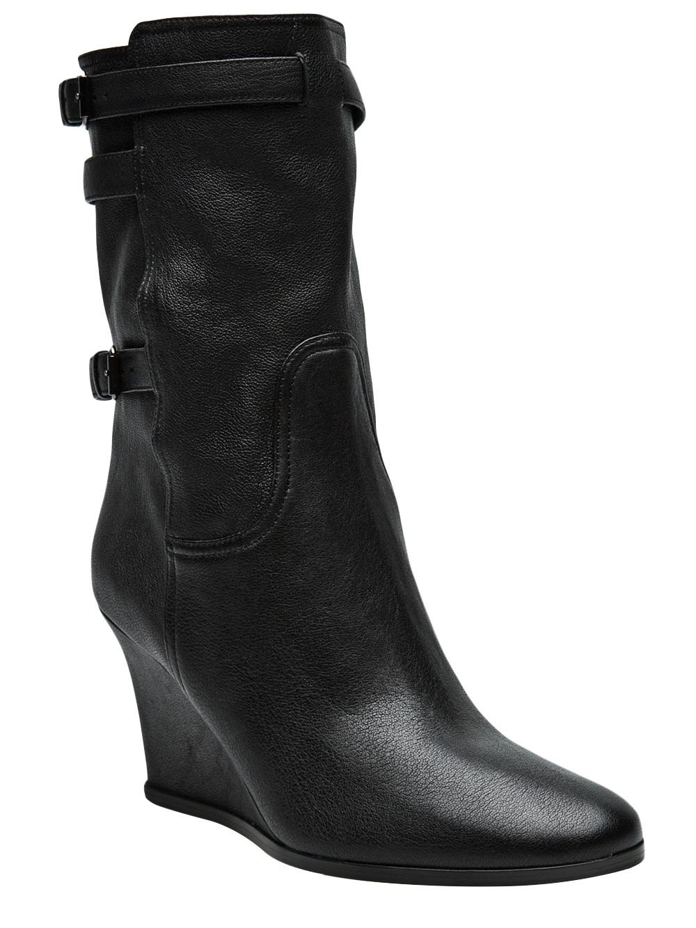 lanvin wedge bootie in black lyst