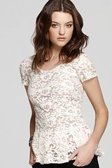 Madison Marcus Top Lace Peplum