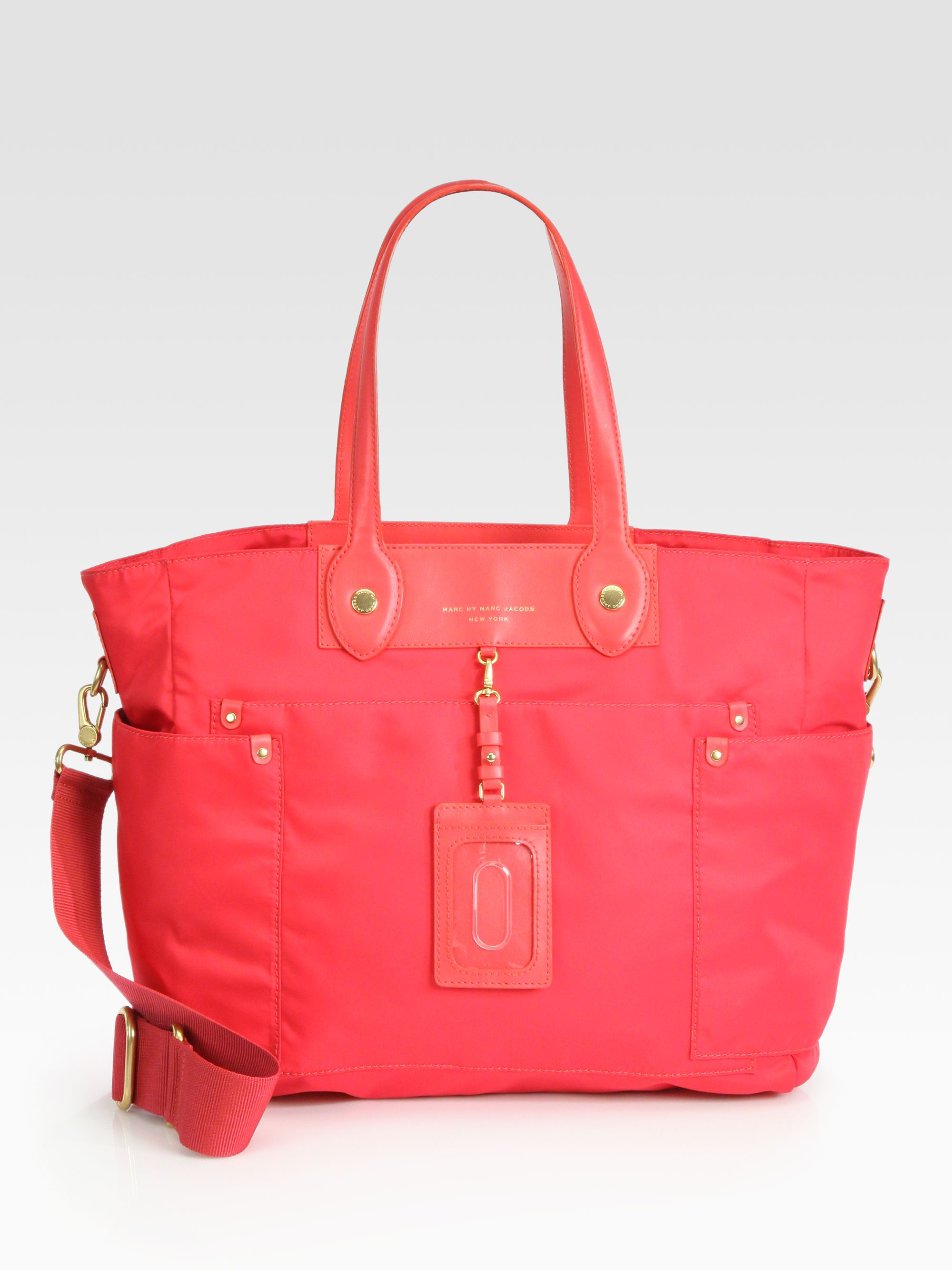 marc by marc jacobs preppy nylon elizababy diaper bag in pink lyst. Black Bedroom Furniture Sets. Home Design Ideas