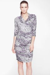 Marc New York By Andrew Marc Cowl Neck Snake Print Sheath Dress - Lyst