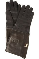 Marni Cashmere-lined Leather Gloves - Lyst
