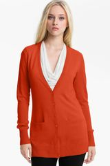 Nordstrom Collection Silk Cashmere Vneck Cardigan - Lyst