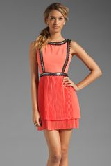 Plenty By Tracy Reese Embellished Crepe Tiered Frock - Lyst