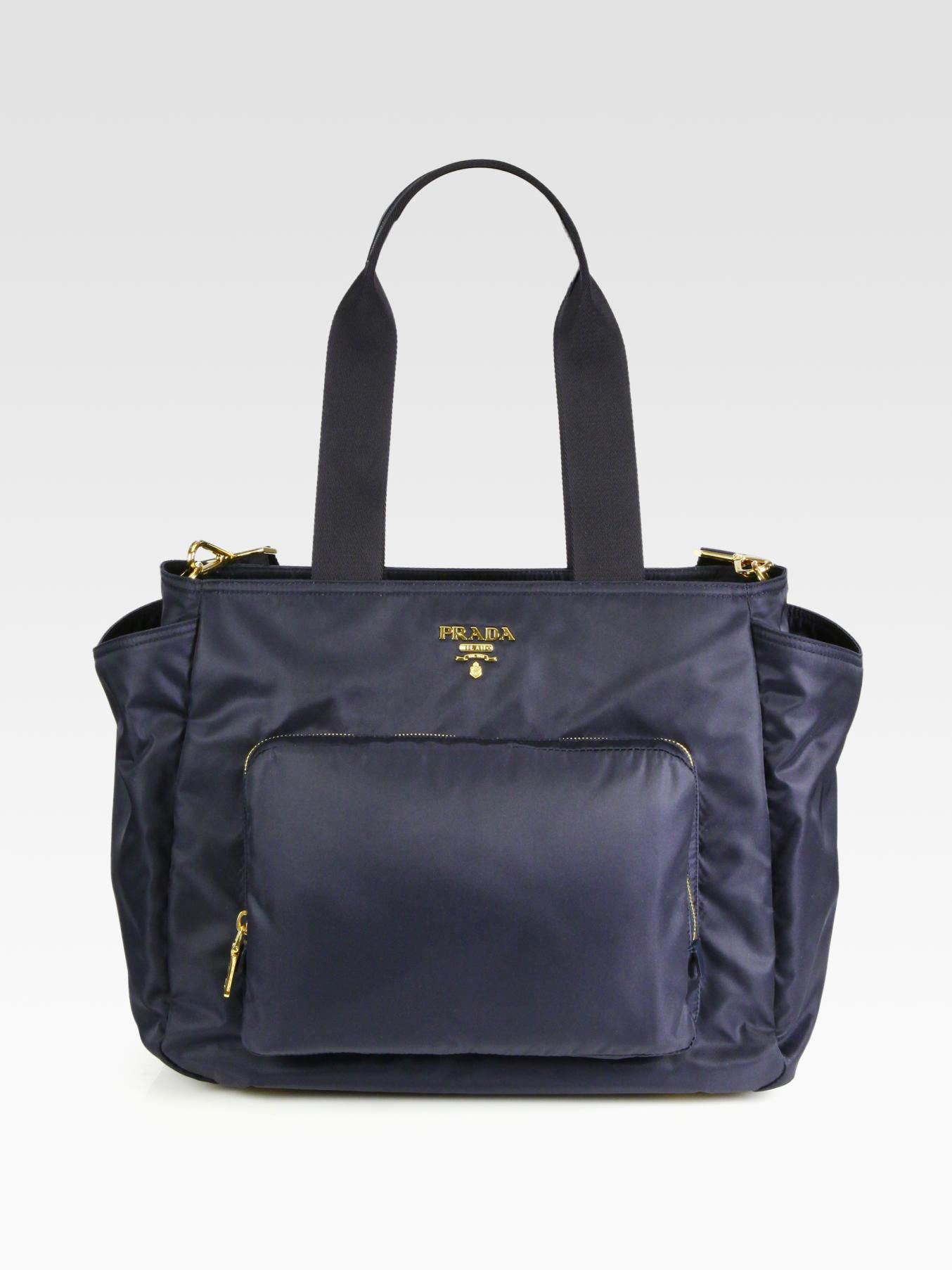 prada nylon baby bag in blue lyst. Black Bedroom Furniture Sets. Home Design Ideas