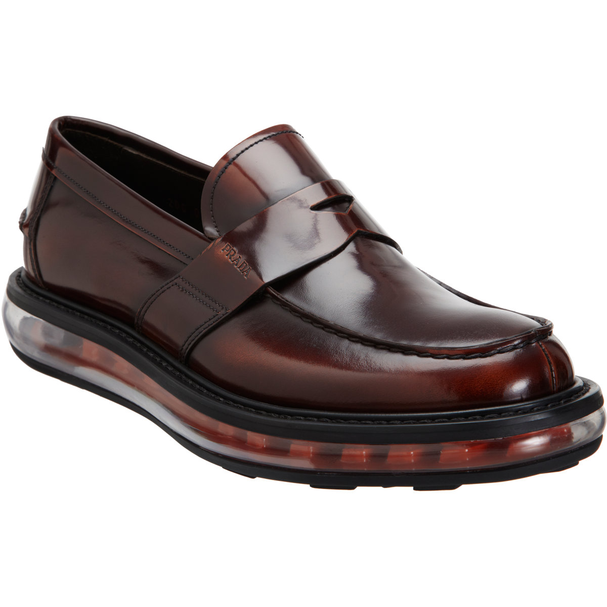 Prada Levitate Penny Loafer In Brown For Men (transparent) | Lyst