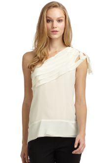 BCBGMAXAZRIA Silk Layered Knot Detail Top - Lyst