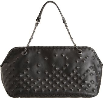 Bottega Veneta Studded Shoulder Bag - Lyst