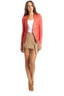 Cut 25 By Yigal Azrouel Leather Blazer - Lyst