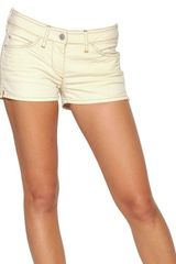Etoile Isabel Marant Stretch Cotton Denim Shorts - Lyst