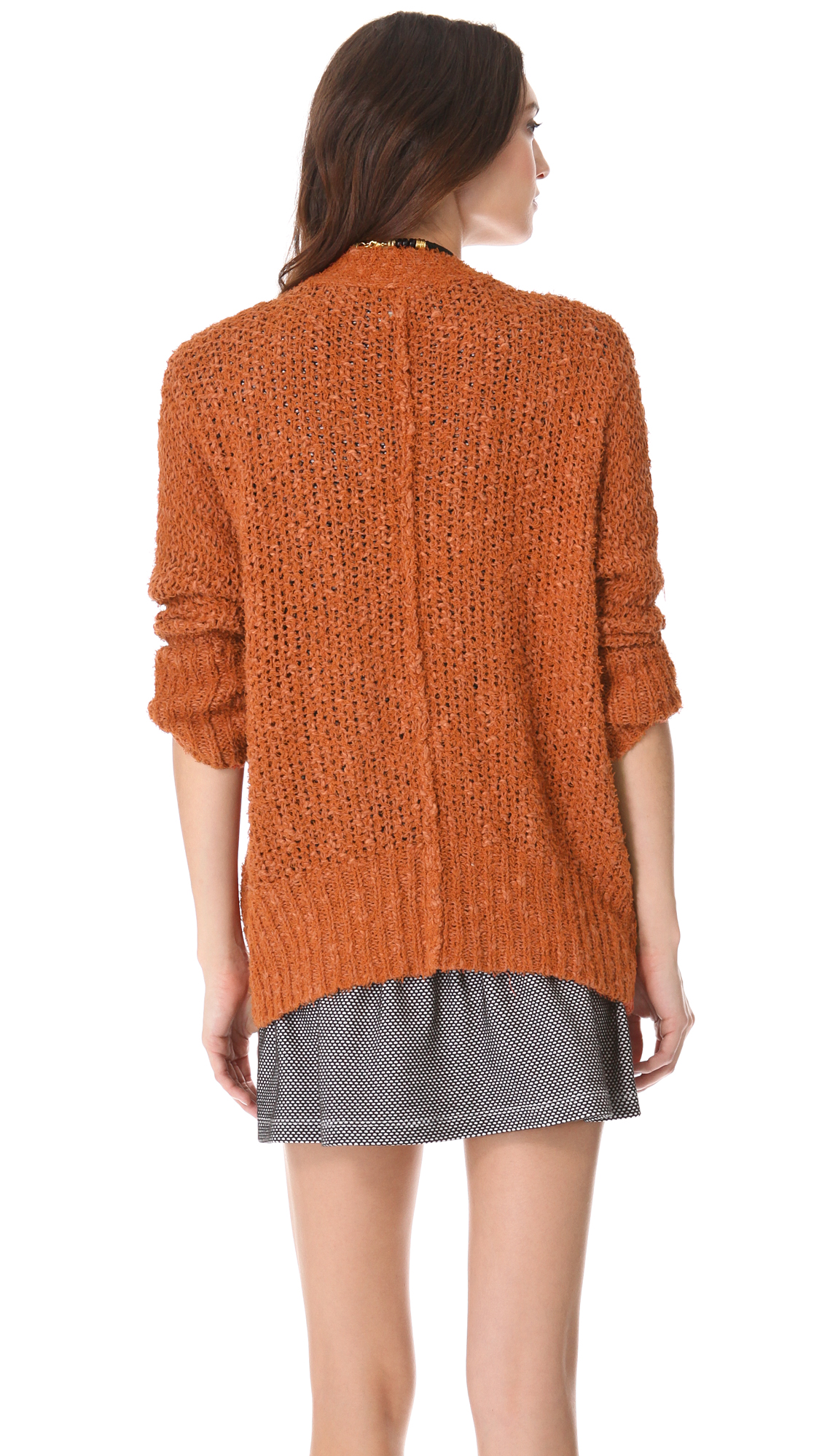Lyst free people oh la la cardigan in metallic gallery publicscrutiny Image collections