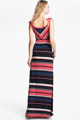 French Connection Stripe Maxi Dress in Pink (sorrento stripe) - Lyst