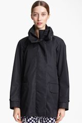 Jil Sander Hooded Coat - Lyst