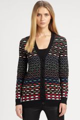 M Missoni Diamondstripe Cardigan - Lyst