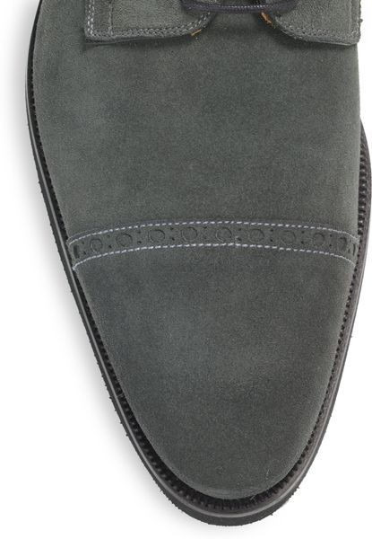 Magnanni Suede Oxford Shoes in Gray for Men (grey) - Lyst