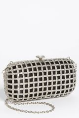Natasha Couture Caged Clutch - Lyst