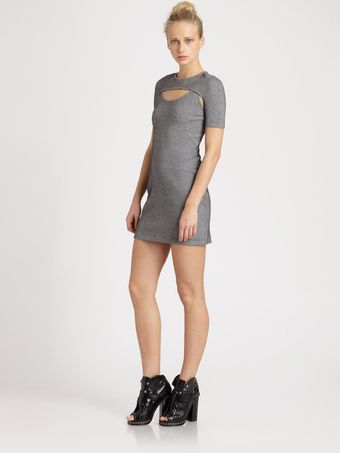 Opening Ceremony Scuba Cutout Dress - Lyst