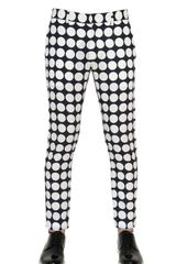 Pierre Balmain 17cm Printed Cotton Poplin Trousers - Lyst