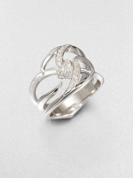 Stephen Webster Diamond Sterling Silver Knot Ring In