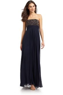 Theia Beaded Gown - Lyst