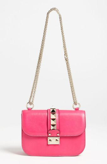 Valentino Lock Small Leather Flap Bag - Lyst