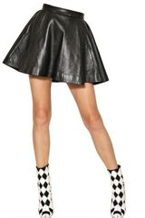 Balmain Nappa Leather Skirt - Lyst