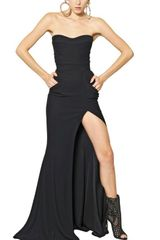 Balmain Viscose Cady Long Dress - Lyst