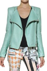 Balmain Nappa Leather Biker Jacket