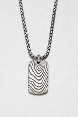 David Yurman Sterling Silver Tag Pendant Necklace - Lyst