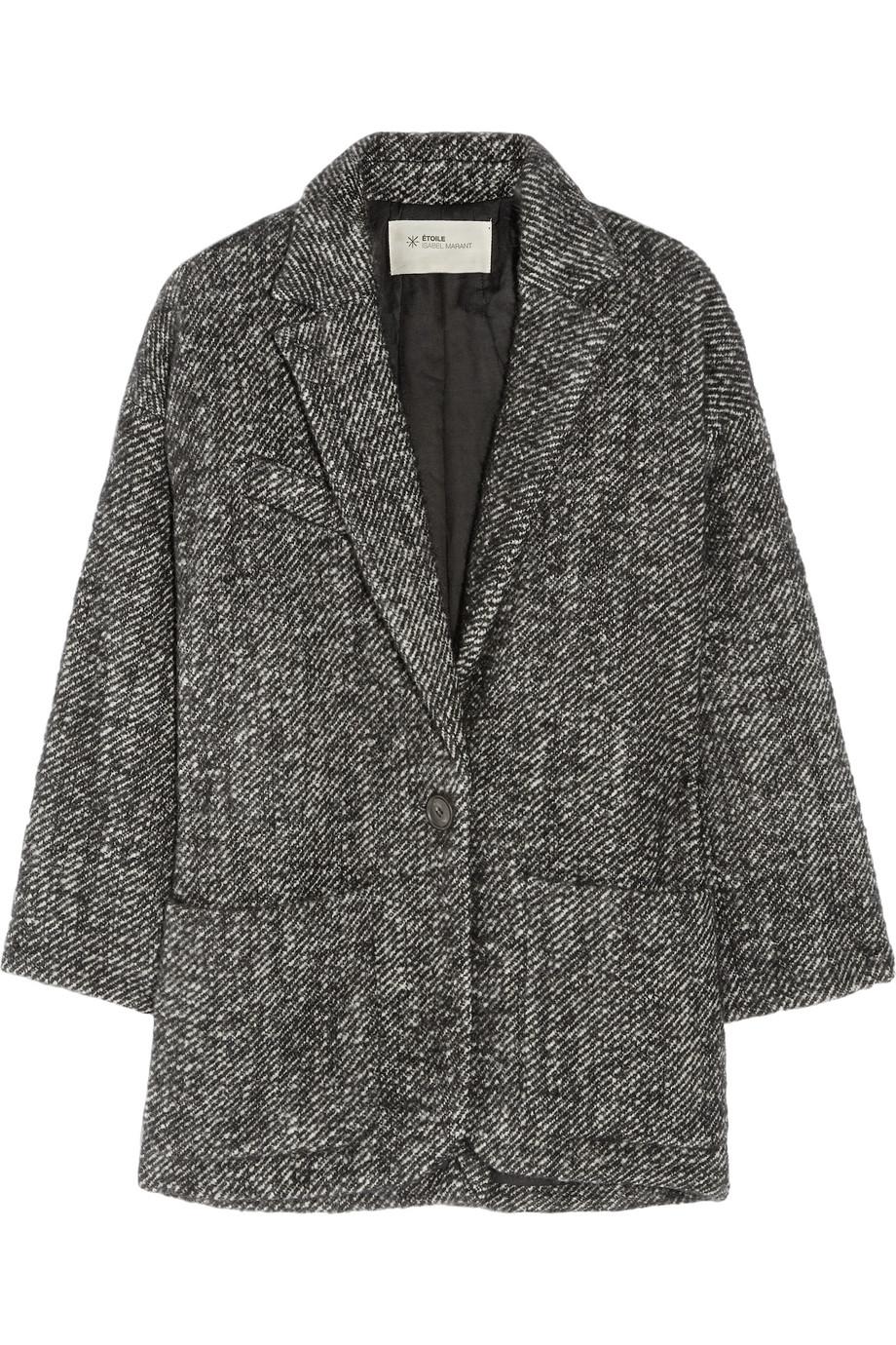 Lyst - Étoile Isabel Marant Xavier Bouclé Wool and Alpaca blend Coat in Black