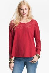Free People Cozy Embellished Pullover - Lyst